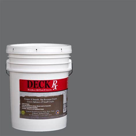 deck resurfacer home depot deck rx 5 gal gray wood and concrete exterior resurfacer