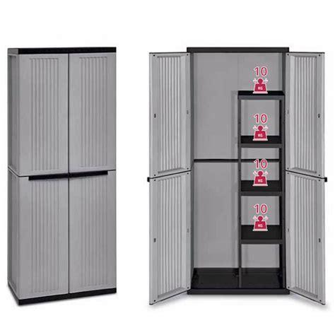 armadietti per esterno in resina armadio in resina antiurto da esterno 90x54 h180cm 2 ante
