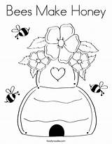 Coloring Honey Bees Bee Coloringhome Popular Salvato sketch template