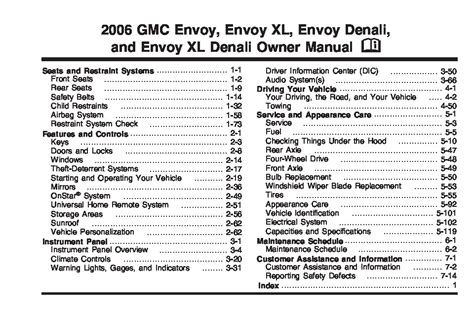 gmc envoy owners manual  give   damn manual
