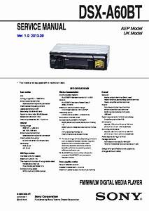 Sony Dsx-a60bt Service Manual