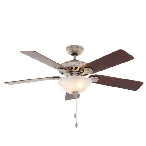 52 brushed nickel ceiling fan hunter five minute 52 in indoor brushed nickel ceiling