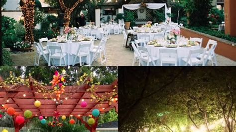 modern backyard backyard wedding ideas  summer