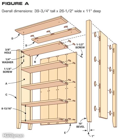 how to make a bookcase simple bookcase plans the family handyman