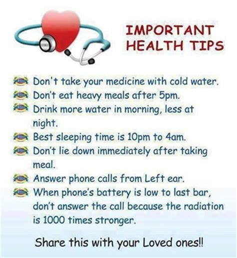 important health tips pictures   images