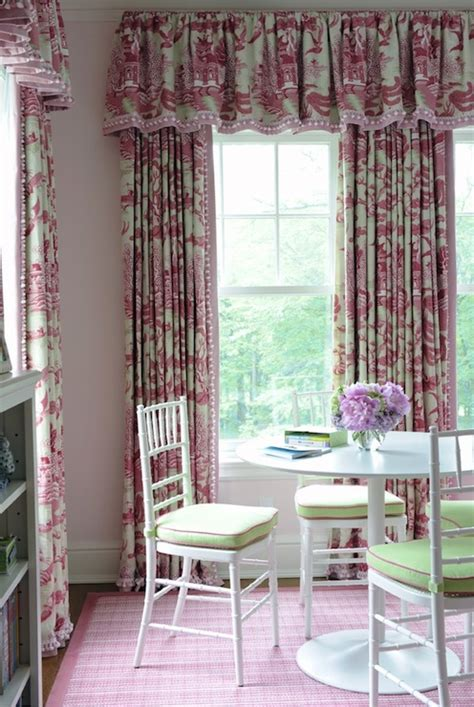 toile drapes toile curtains transitional s room kerry hanson