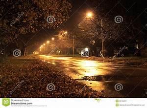 Quiet street at night stock image. Image of night, quiet ...