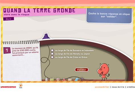 Quand La Terre Gronde Jeu Flash by Le Quiz Animation Flash Quand La Terre Gronde