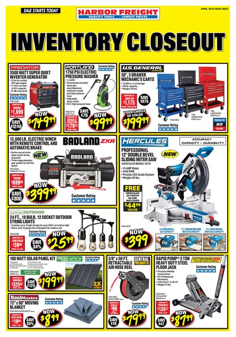 Harbor Freight Tools - April 2018 Ad - Page 1