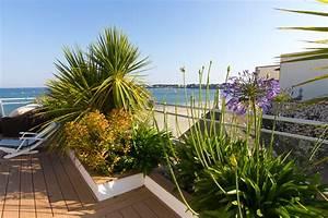 Aménagement Toit Terrasse : am nagement d 39 un toit terrasse sur le remblai de la baule bord de mer terrasse et patio ~ Melissatoandfro.com Idées de Décoration