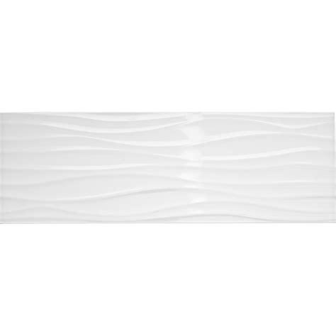 meilleur peinture pour cuisine faïence mur blanc brillant décor relief wave l 25 x l 75