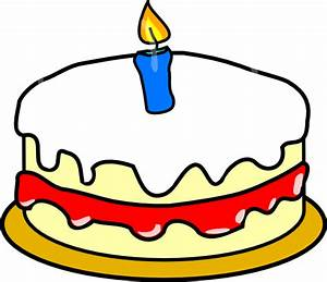 First Birthday Cake Clip Art at Clker.com - vector clip ...