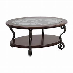 90 off ashley furniture ashley furniture oval glass With oval wood and metal coffee table