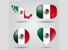 conjunto de bandera de México — Archivo Imágenes