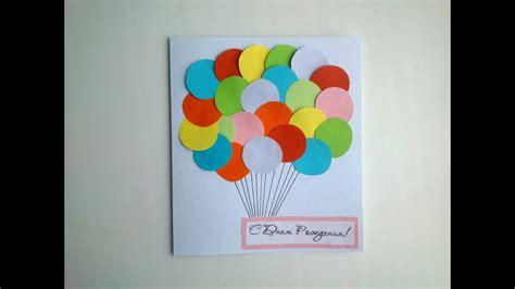 simple birthday paper card handmade gifts paper diy