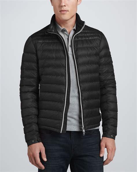 mens light jacket moncler acorus lightweight puffer jacket in black for