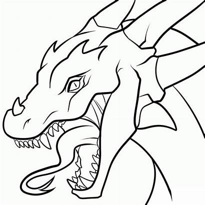 Dragon Transparent Head Lineart Deviantart