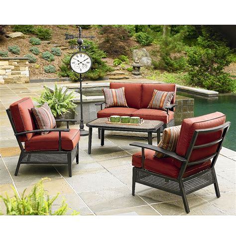 ty pennington patio furniture cushions ty pennington conversation replacement cushion set