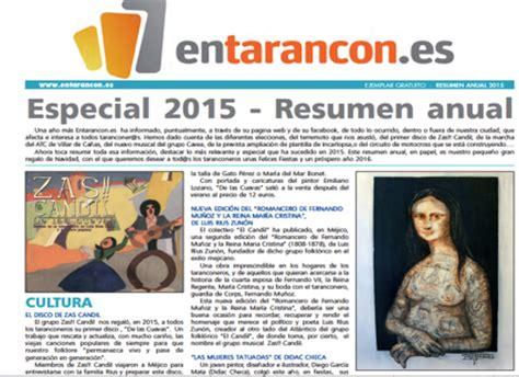 Resumen Anual In by Especial 2015 Resumen Anual Entarancon Es