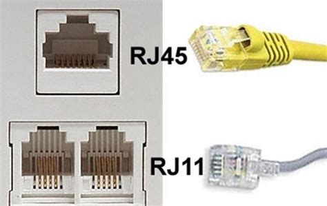 what s the difference between rj11 and rj45 ethernet