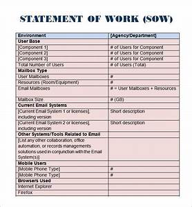 8 statement of work templates word excel pdf formats With statement of works template