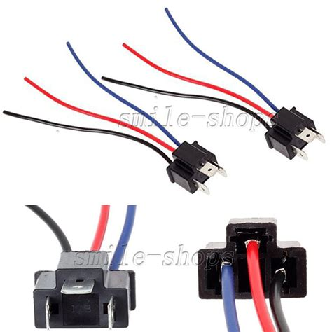 2 h4 9003 headlight bulb pigtail wire harness connector socket adapter 707427236936 ebay