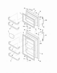 Door Diagram  U0026 Parts List For Model Ffht1814lm3 Frigidaire