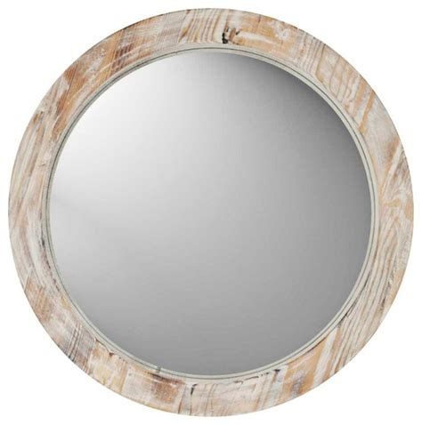 uttermost oval mirror coastal 19 quot washed wood wall mirror contemporary