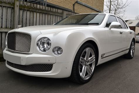 white bentley bentley mulsanne full wrap in pearl white reforma uk