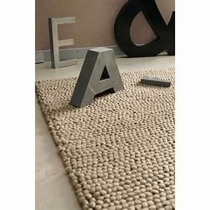 tapis en laine beige 140 x 200 cm industry maisons du monde With tapis laine beige