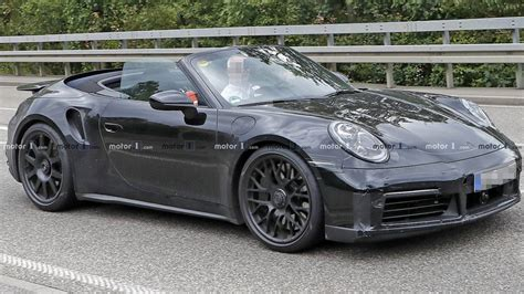 Next Porsche 911 Turbo Convertible Spied Rolling With Its