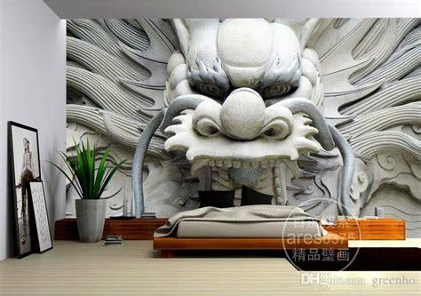 dragon photo wallpaper custom wallpaper stone carving