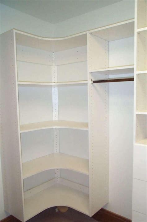 walk in closet closet designs and corner shelves on