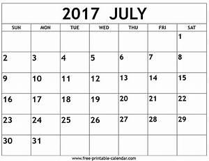 July 2017 Calendar | monthly calendar 2017