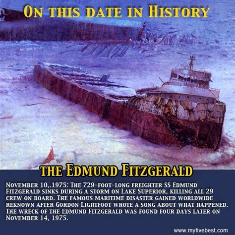 what year did the edmund fitzgerald sank 17 best images about edmund fitzgerald on