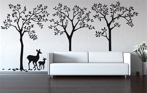 wall decal forest decal removable matte wall stickers
