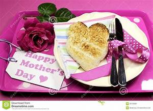 Pink Happy Mothers Day Breakfast Tray Stock Image - Image ...