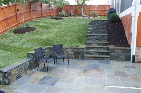 slate for backyard exterior lovely green grass flooring backyard with grey slate tile flooring patio for exterior