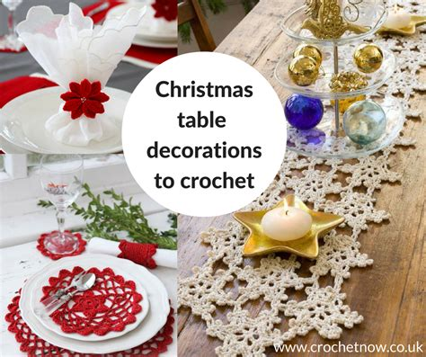 crochet patterns for the christmas table crochet now