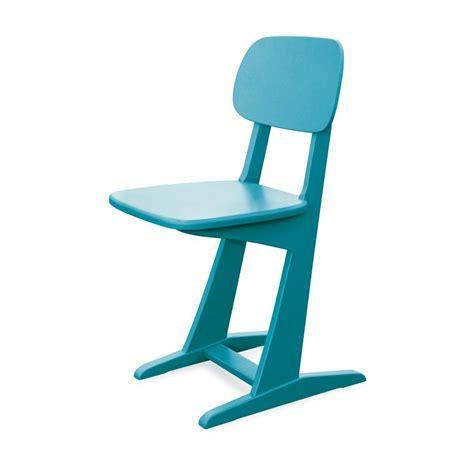 chaise bureau turquoise chaise à patins turquoise laurette pour chambre enfant