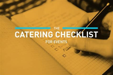 The Catering Checklist for Events