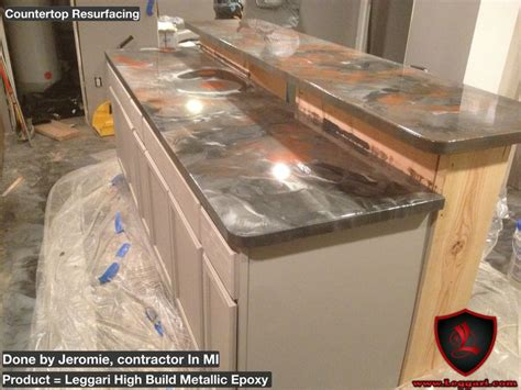 countertop refinishing kit leggari diy metallic epoxy countertop resurfacing kits another project completed with leggari