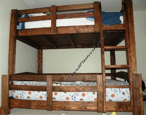 wholesale bunk bed paper plans  easy beginners   experts build   king