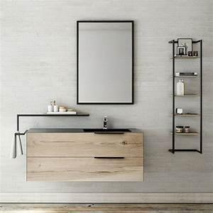 meubles salle de bain plan en resine vasque moulee With meuble salle de bain 100 cm simple vasque