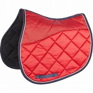 Tapis de selle equitation cheval 540 rouge fouganza for Tapis d équitation rouge
