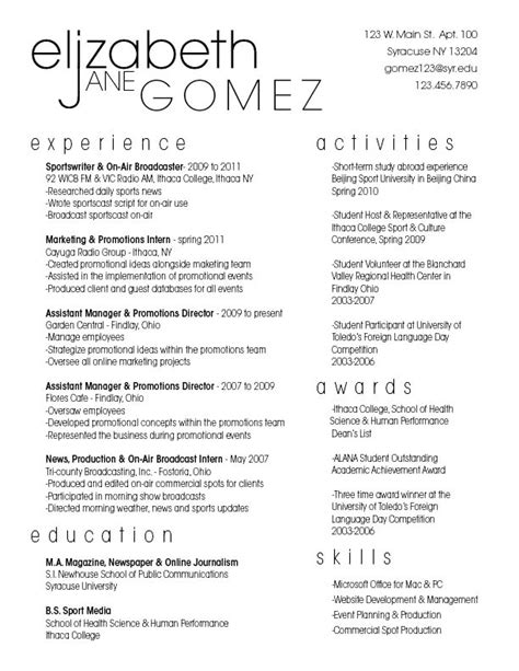 lizzy gomez project 1 resume gra617