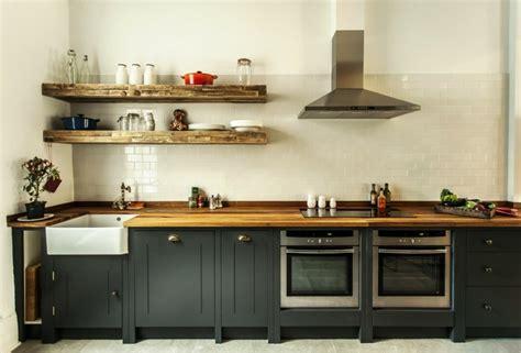 cuisine inox et bois cuisine bois noir inox chaios com