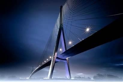 Landscape Modern Bridge Lights Traffic Desktop Backgrounds