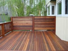 decking privacy screen and railing contemporary deck calgary by kayu canada inc