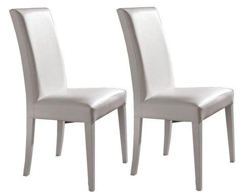 chaise de cuisine en cuir blanc davaus chaise cuisine simili cuir avec des idées